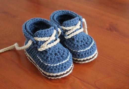zapatos tejidos para bebe varon con trenzas