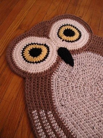 buhos en crochet patrones alfombra