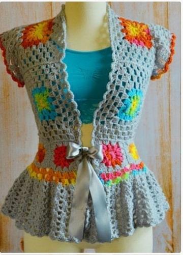 chalecos tejidos a gancho para mujer flores