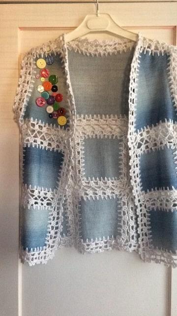 chalecos tejidos a gancho para mujer modernos