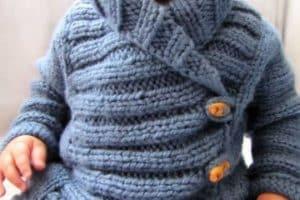 Diseños actuales y calientitos de chompas de lana para niños