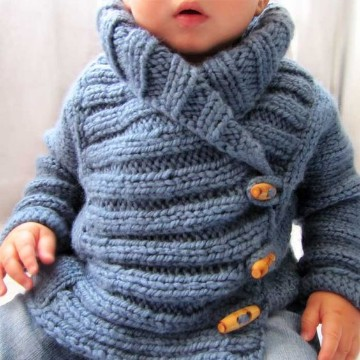 chompas de lana para niños con botones