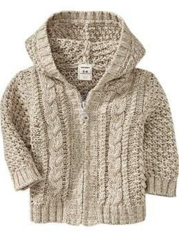 chompas de lana para niños con capucha