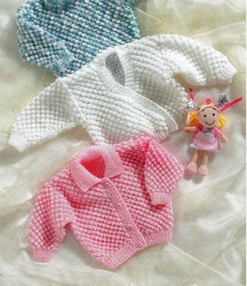 chompas para bebes tejidas a palitos niña