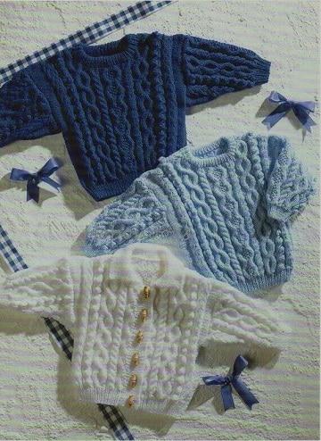chompas para bebes tejidas a palitos niño