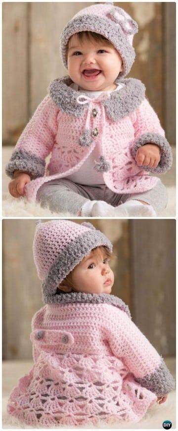 chompas tejidas para bebes niñas