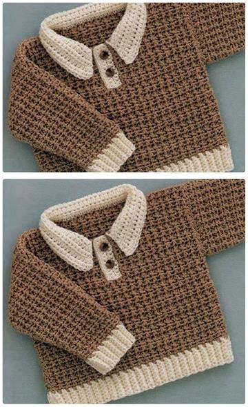 chompas tejidas para bebes niños