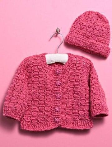 chompas tejidas para niñas a crochet