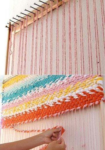 como hacer alfombras a mano lana