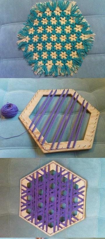 como hacer alfombras a mano paso a paso