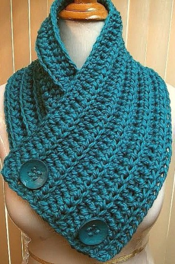 como hacer bufandas en crochet para mujer