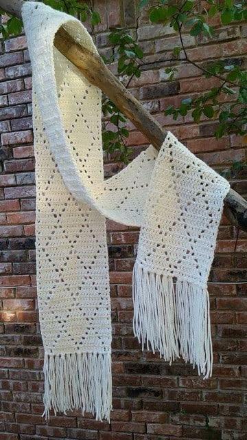 como hacer bufandas en crochet sencillas