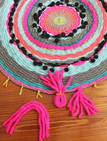 como hacer una alfombra con lana ideas