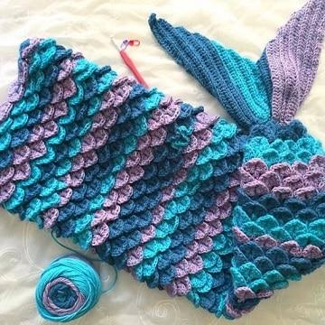 como tejer una cola de sirena crochet