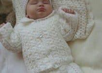 Diseños de conjuntos tejidos para bebes recien nacidos