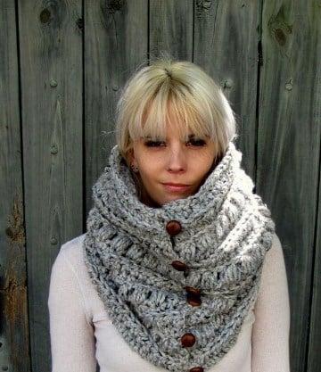 cuellos de punto dos agujas de lana