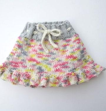faldas tejidas para niña paso a paso bebe