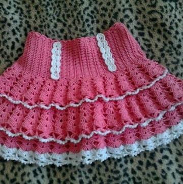 ae6391097 La moda de hacer lindas faldas tejidas para niña paso a paso