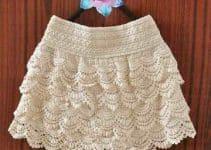 La moda de hacer lindas faldas tejidas para niña paso a paso