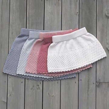 faldas tejidas para niña paso a paso tamaños