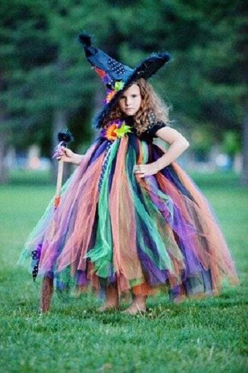 imagenes de disfraz de bruja para niña originales