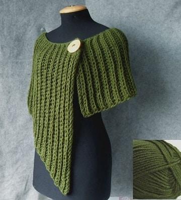 modelos de capas tejidas a dos agujas ideas