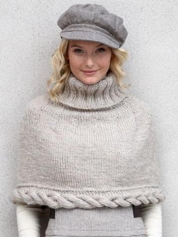 modelos de capas tejidas a dos agujas para mujer