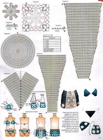 patrones de bikinis a crochet paso a paso