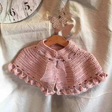 ponchos de lana para niñas 1 y 2 años