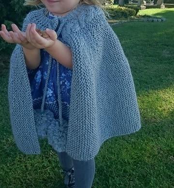 ponchos de lana para niñas crochet