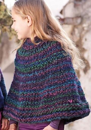 ponchos de lana para niñas patron