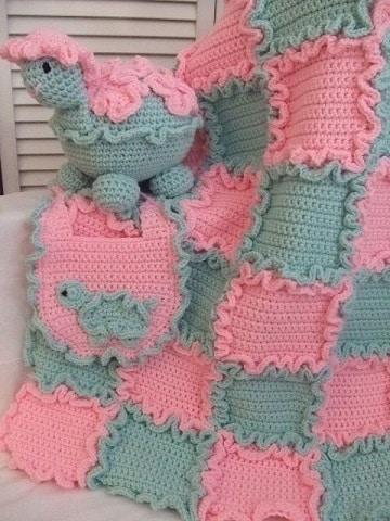 puntadas tejidas a gancho para bebe