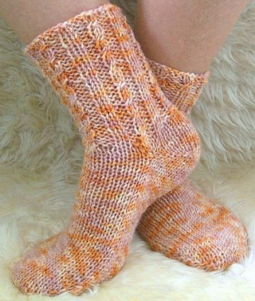 tejer calcetines dos agujas rectas para adultos