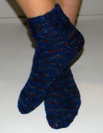 tejer calcetines dos agujas rectas para dormir