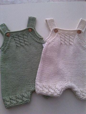 tejidos para bebes recien nacidos dos agujas