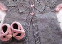 Unas prendas y accesorios tejidos para bebes recien nacidos