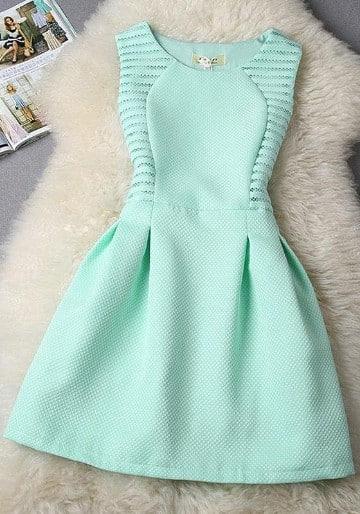 vestidos de color verde menta para fiesta