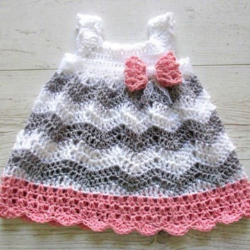 vestidos de crochet para bebe de 3 meses