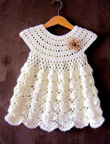 vestidos de crochet para bebe de 6 meses