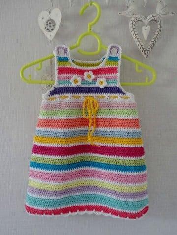 vestidos de crochet para bebe niña