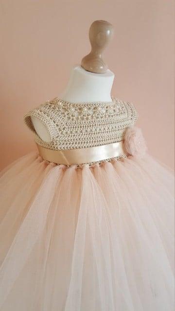 vestidos de crochet para bebe para bautizo