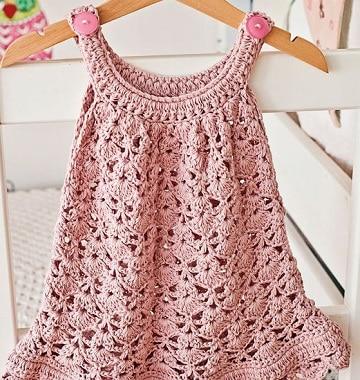 vestidos de niña tejidos a gancho diseños