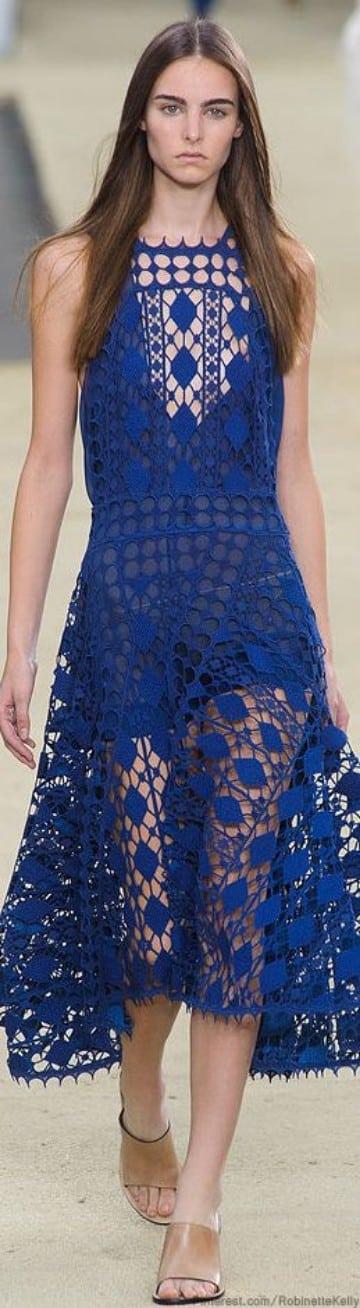 vestidos largos azul marino 2016