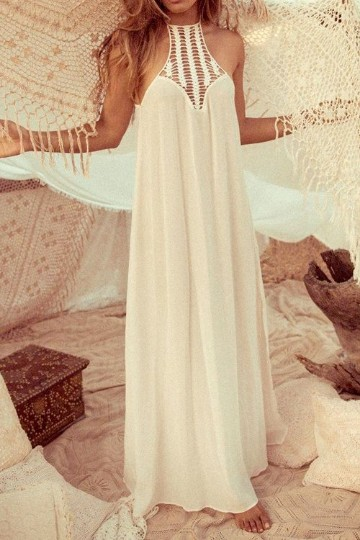 vestidos largos playeros blancos