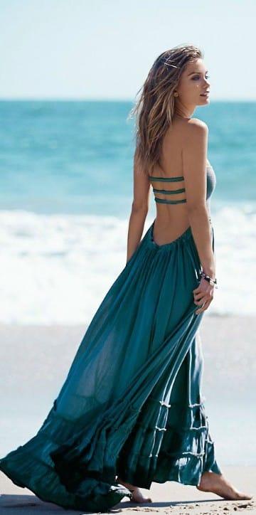 vestidos largos playeros sencillos