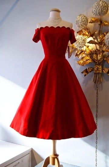 vestidos rojos con manga corto