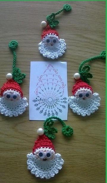 adornos navideños a crochet paso a paso con patron