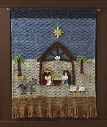 adornos navideños a crochet paso a paso manta