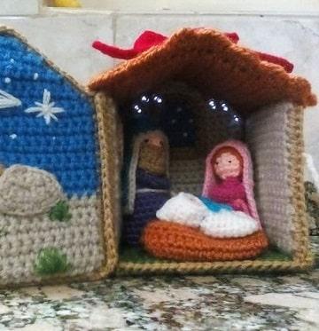 adornos navideños a crochet paso a paso pesebre