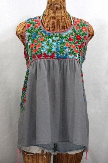 blusas artesanales bordadas sin mangas